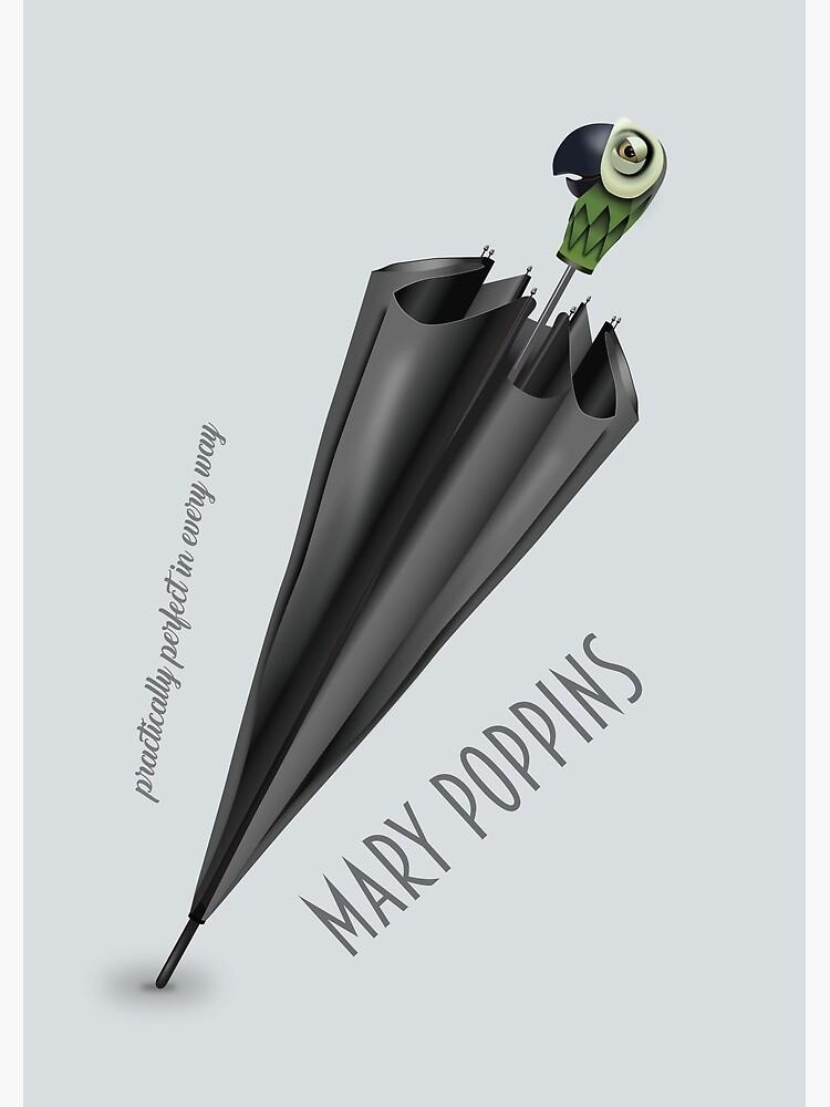 Mary Poppins - Alternative Movie Poster by MoviePosterBoy