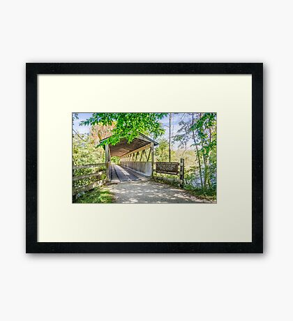 Kal-Haven Trail Covered Bridge Framed Print