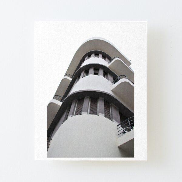 Tel Aviv Bauhaus style building  Canvas Mounted Print