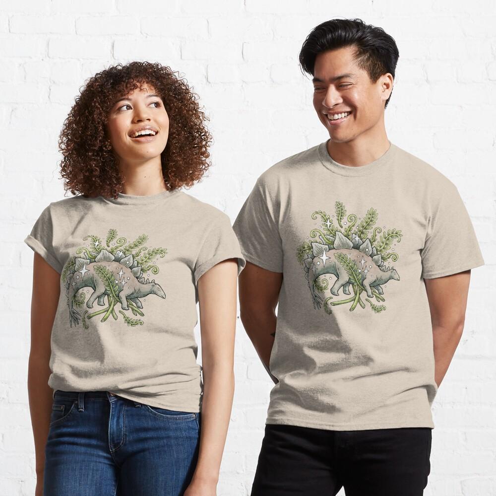 Stegosaurus & Ferns | Dinosaur Botanical Art Classic T-Shirt