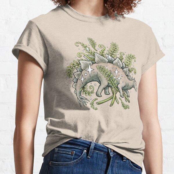 Stegosaurus & Ferns   Dinosaur Botanical Art Classic T-Shirt