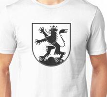 The Lion of Heidelberg (black on white) Unisex T-Shirt