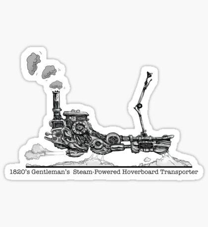 1820's Gentleman's Steam-Powered Transporter Sticker