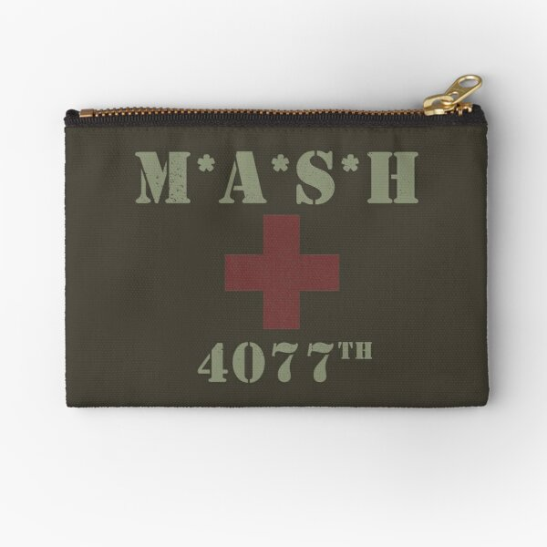 MASH (distressed look) Zipper Pouch
