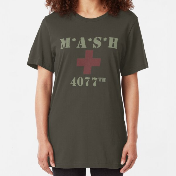 MASH (distressed look) Slim Fit T-Shirt