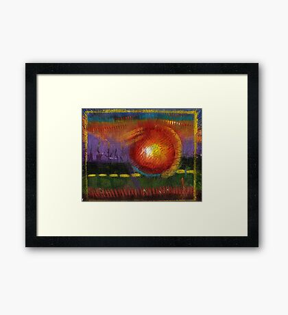 BIG Ball of Fire Framed Print