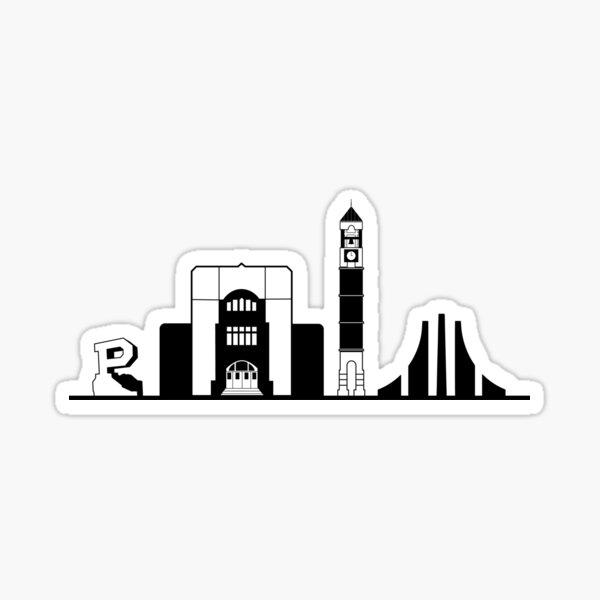 Purdue University Skyline Sticker