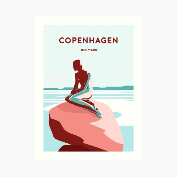 Copenhagen Denmark travel poster print art  Art Print