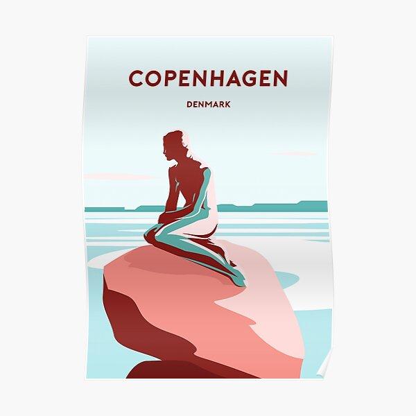 Copenhagen Denmark travel poster print art  Poster