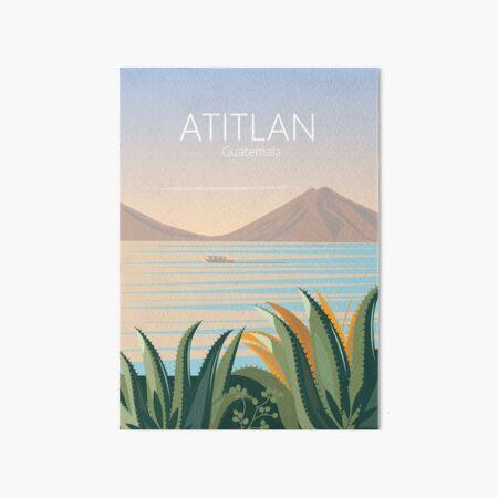 Cartel de viaje vintage de guatemala lago atitlán Lámina rígida