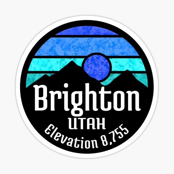 Ski Brighton Utah Skiing Hiking  Sticker
