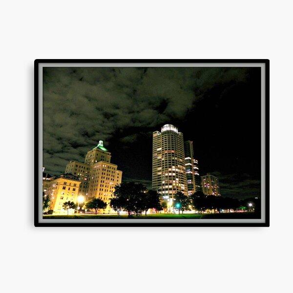 Milwaukee at night © Canvas Print