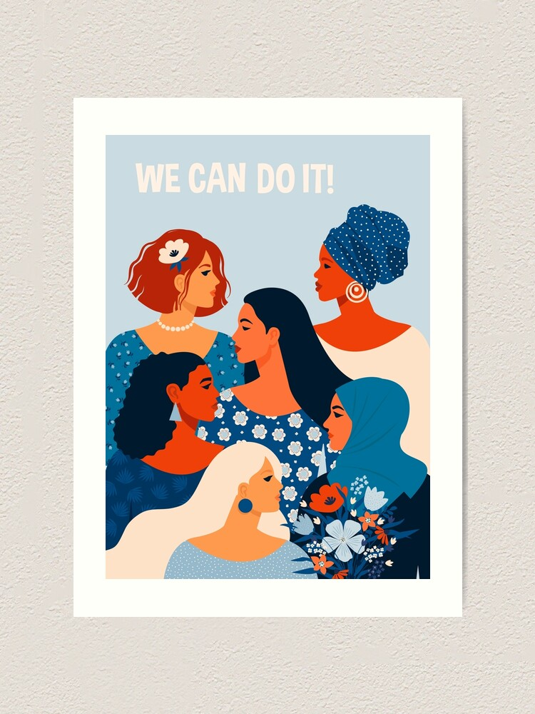 Alternate view of  We can do it, women together in feminism Art Print