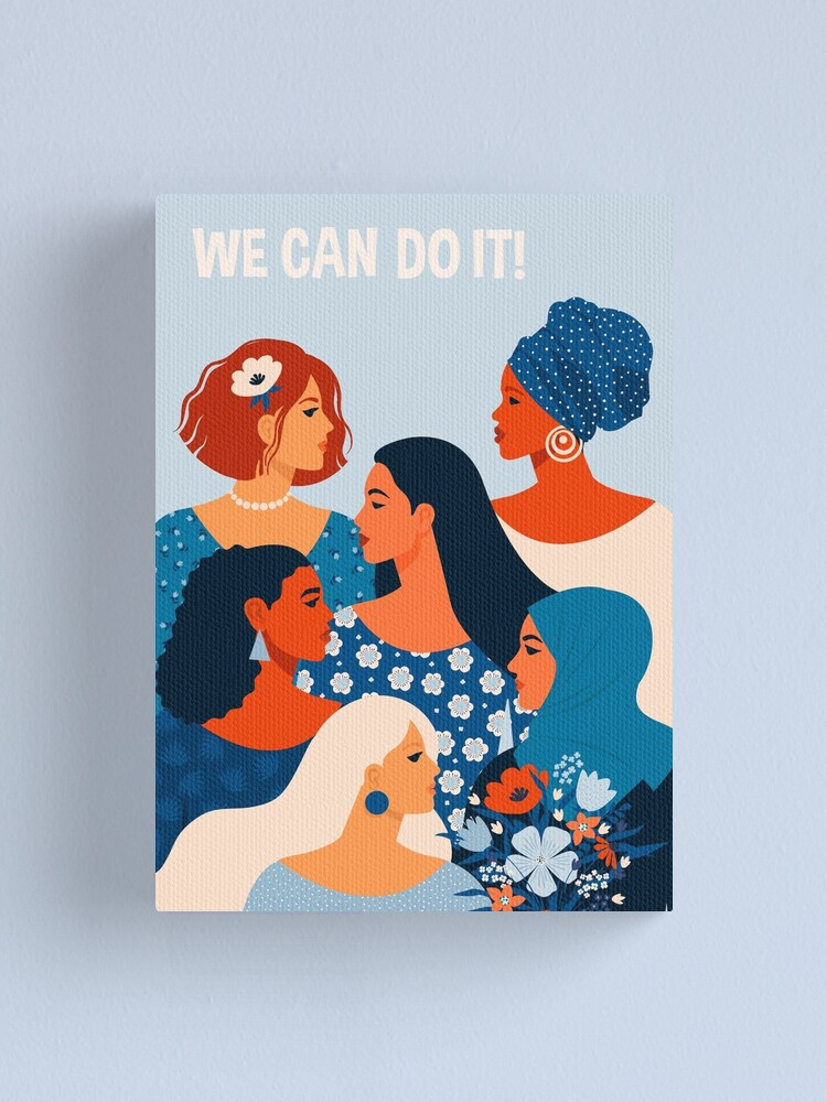 Alternate view of  We can do it, women together in feminism Canvas Print