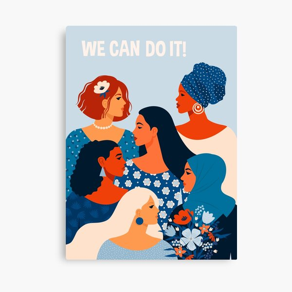 We can do it, women together in feminism Canvas Print