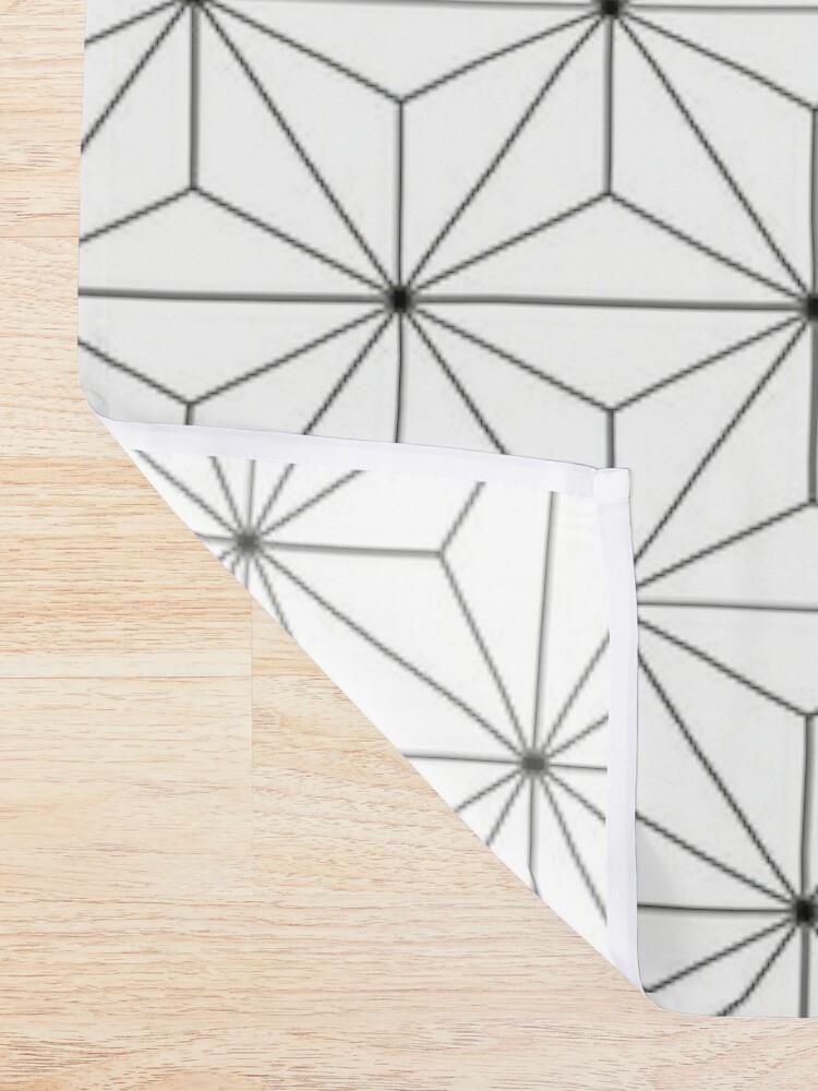 Alternate view of Geodesic Sphere, White Shower Curtain