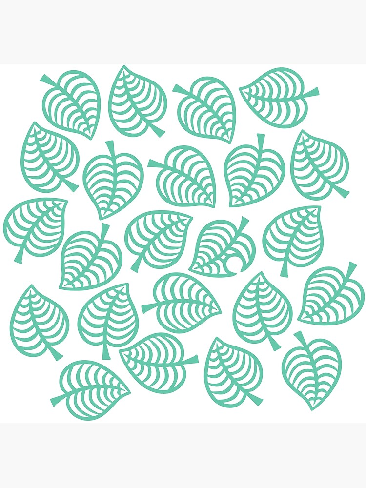 Animal Crossing New Horizons Leaf Pattern Greeting Card By