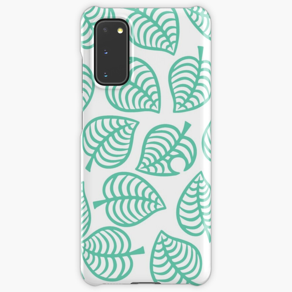 Animal Crossing New Horizons Leaf Pattern Case Skin For Samsung