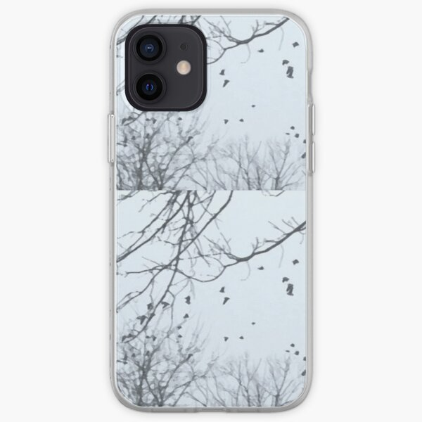 Winter Birds Bare Branches iPhone Soft Case