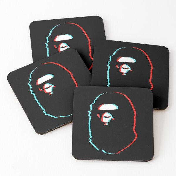 trippy bape Coasters (Set of 4)