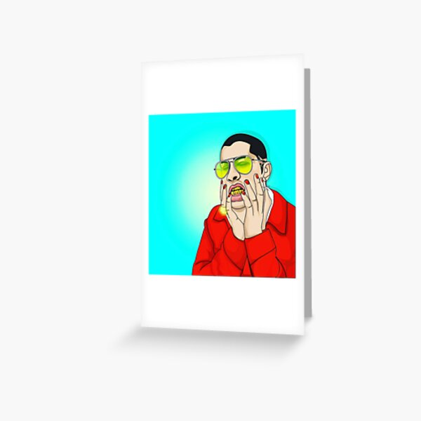 Bad Bunny Greeting Cards Redbubble