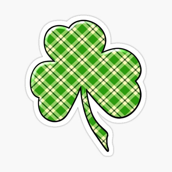 Green Plaid Shamrock - No. Two Sticker