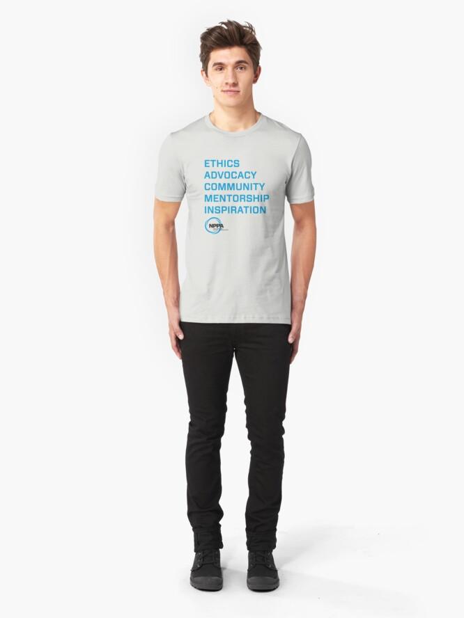 Alternate view of NPPA words Slim Fit T-Shirt