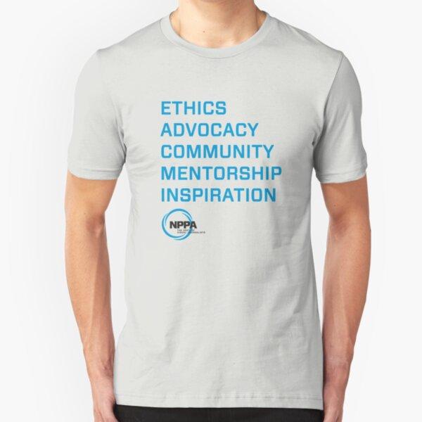 NPPA words Slim Fit T-Shirt