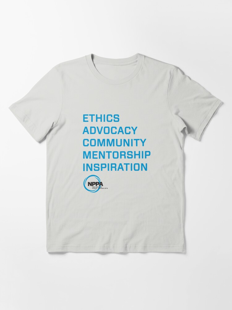 Alternate view of NPPA words Essential T-Shirt