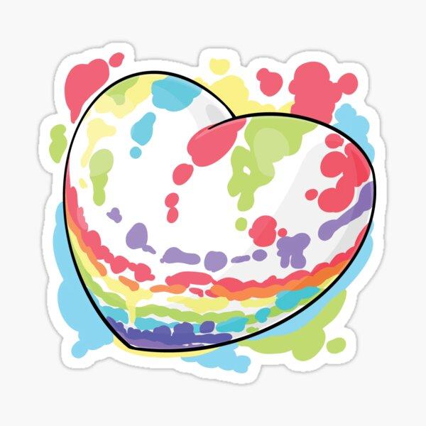 Full Colourful Heart Sticker