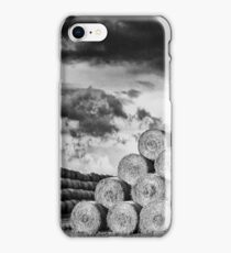 Army of Straw Bales_Black & White iPhone Case/Skin