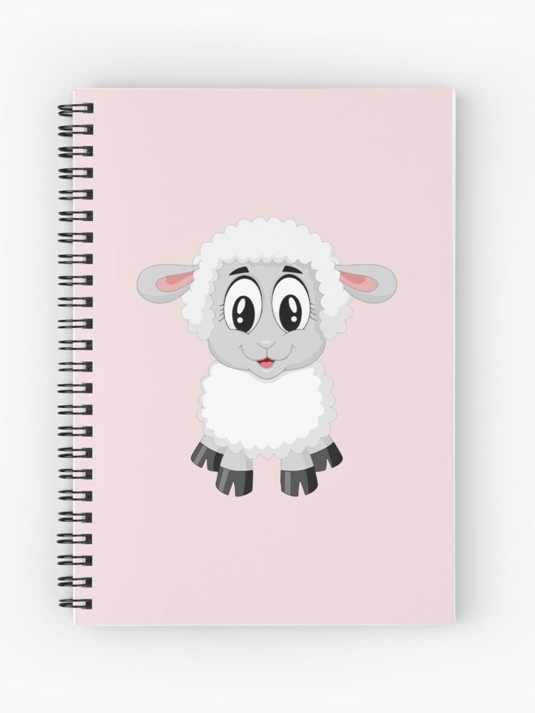 Cuaderno De Espiral Animales Ovejas Hermosa Dibujo Bebe