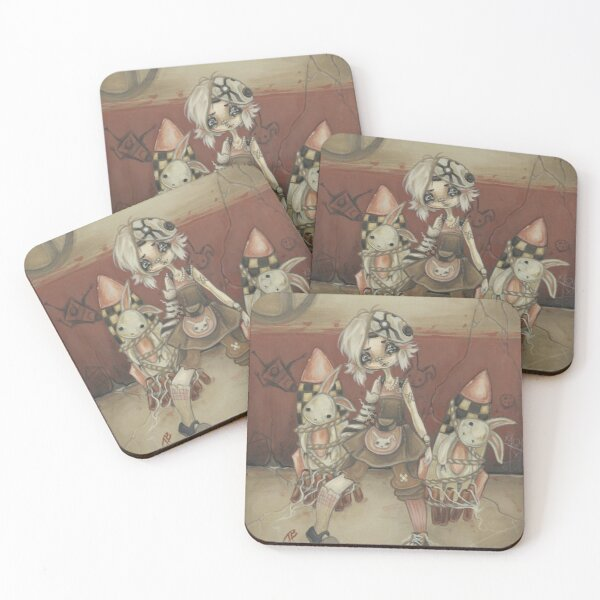 Tina and the Damsels Coasters (Set of 4)
