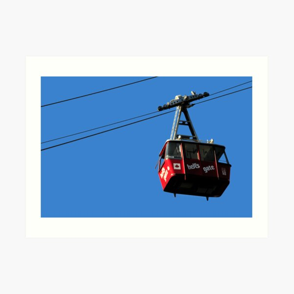 Airtram at Hell's Gate Fraser Valley Art Print