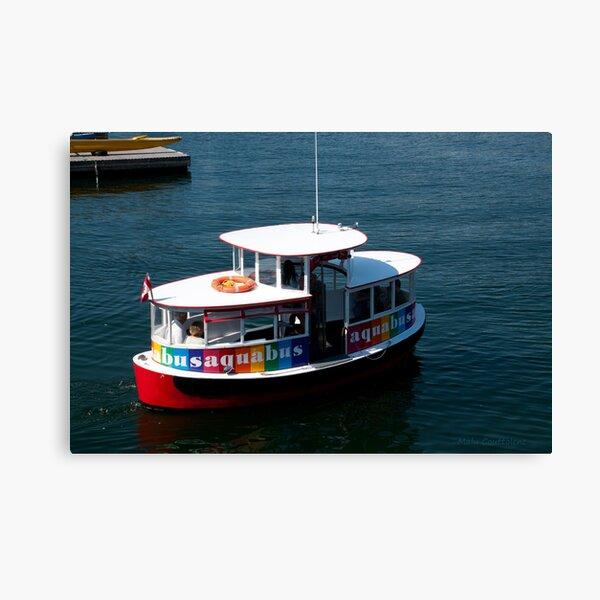 Aquabus to Granville Island Canvas Print