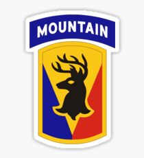 86th Infantry Brigade Combat Team 'The Vermont Brigade' (Mountain) US Army Sticker