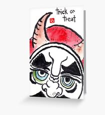Halloween Daruma 1 (Holiday Daruma Series) Greeting Card