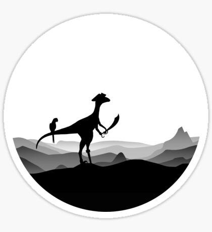 DINO PIRATE - PIRATE DINOSAUR - YARRR - Dino Collection Sticker