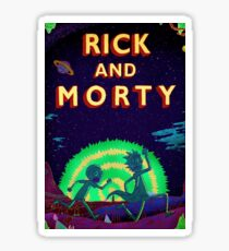 Rick and morty...Run Morty Run  Sticker