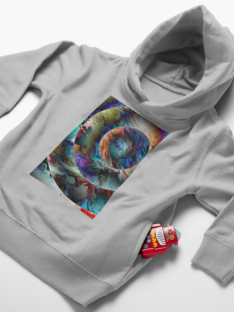 Alternate view of Conjunction: planet art Toddler Pullover Hoodie