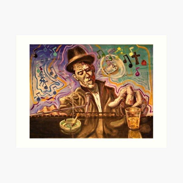 Waltzing Waits aka Tom Waits Art Print