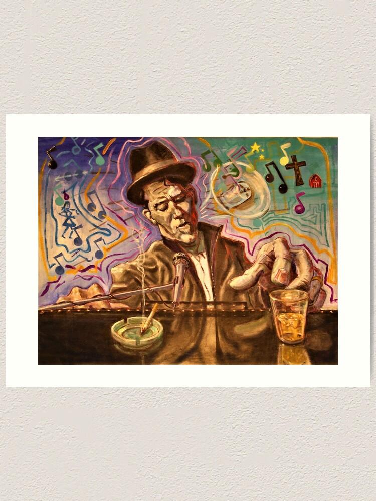 Alternate view of Waltzing Waits aka Tom Waits Art Print