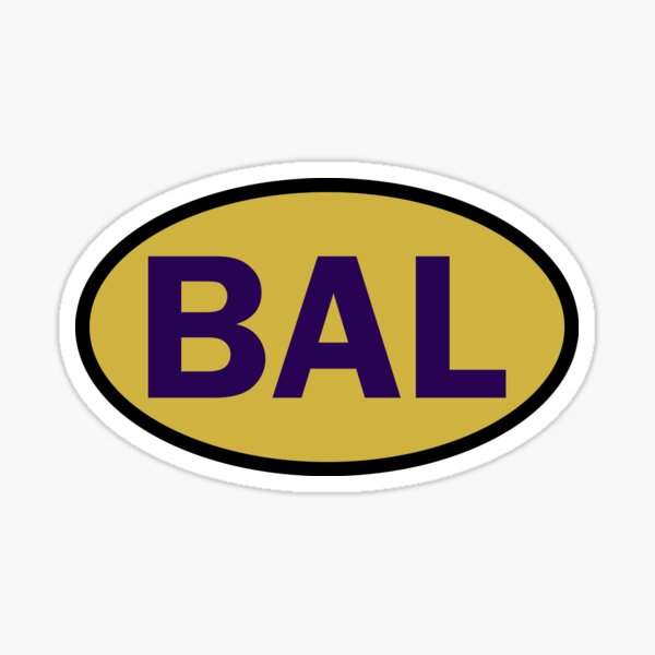Baltimore - BAL - football - oval sticker and more Sticker