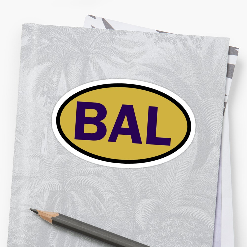 Baltimore - BAL - football - oval sticker and more by welikesports