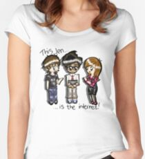 This Jen is the internet- IT Crowd Women's Fitted Scoop T-Shirt