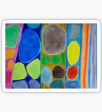 Precious Things in Colourful Stripes Sticker