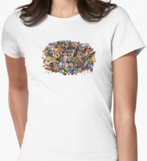 Amiga Game Characters Women's Fitted T-Shirt
