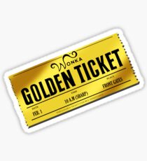 Charlie's Golden Ticket Sticker