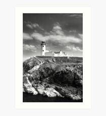 Fanad Head Lighthouse In Donegal, Ireland Art Print