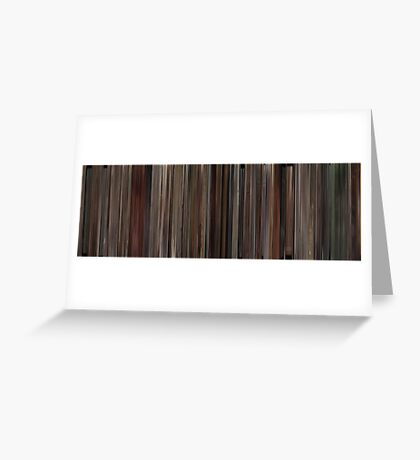 Moviebarcode: 500 Days of Summer (2009) Greeting Card